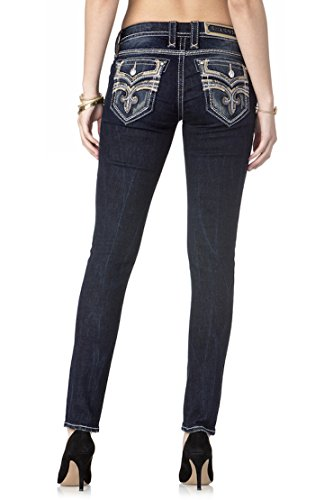 Rock Revival Womens Skinny Cut Jean Rp9485s200 Beliss S200  Waist 25 Length 30