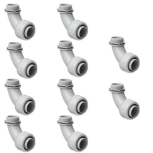 "Pro Line Series 10 Pack - 3/4"" Non Metallic Electrical Liquid Tight Conduit 90 degree Angle Fittings - 5205034100-10x"