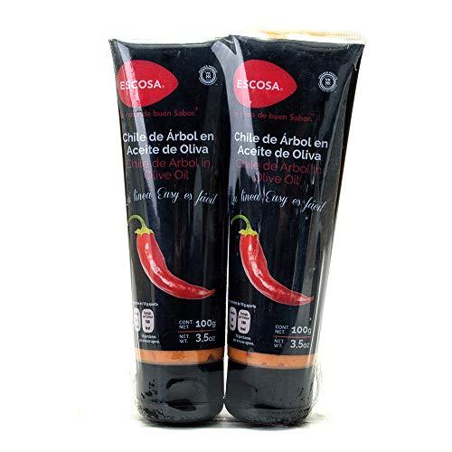 Escosa Chile de Árbol en Aceite de Oliva, 200 g
