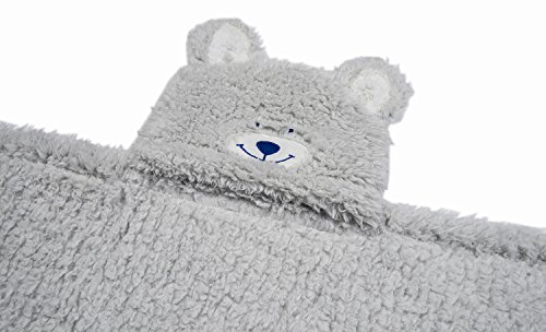 Kids Hooded Blanket,Cute Animal Bear Plush Sherpa Fleece Bath Throw,Fit 3-10 Years Old,Best Gifts for Boys and Girls by softan (Image #7)