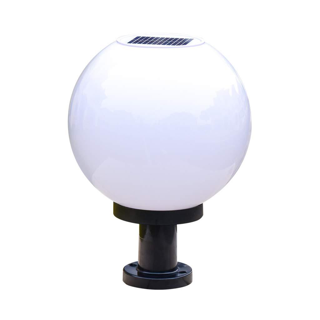 prodotti creativi Lampada da colonna Lampada da colonna solare acrilica rotonda sferica sferica sferica per esterni Lampada da parete per esterni Lampada da giardino con cancello Lampada da parete Lampada da terra Luci solari  di moda