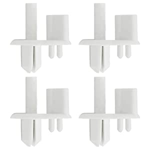 Rear Crisper Cover Support 241993001 Replacement Plastic Refrigerator Shelf Support (4 Pack) Compatible with Frigidaire, Kenmore Replaces 1513081,240350802