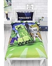 Minecraft Dubbelsidig creeps sängkläder