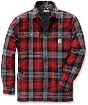 Camisa de rayas Hubbard Carhartt .102333.608.S004, para hombre, color:Rojo oscuro, tamaño:pequeño: Amazon.es: Amazon.es