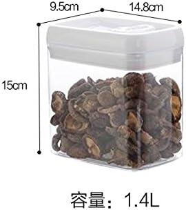Lan Cocina Transparente Sellado latas Tanque de almacenamiento de Granos Pl/ástico Leche En Polvo Tanque de almacenamiento 0.4L