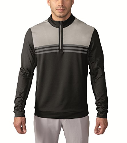 adidas Golf Men's Climacool Colorblock 1/4 Zip Layering Top, Black, X-Large by adidas