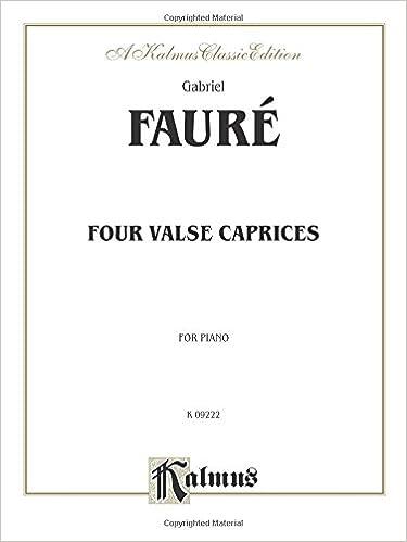 Four Valse Caprices, Op. 30, 38, 59, 62 (Kalmus Edition)