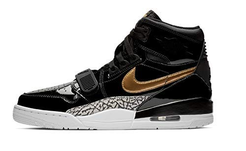 Nike AIR Jordan Legacy 312 Mens Fashion-Sneakers AV3922-007_7.5 - Black/Metallic Gold-White