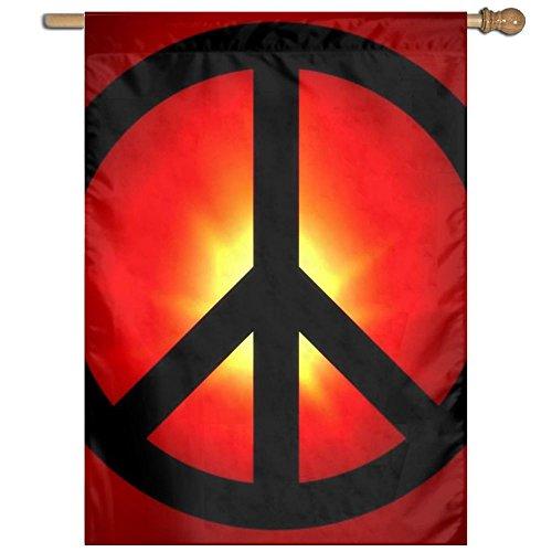 "QIZHI World Peace Vivid Yard House Garden Flags Lawn 27""x37"""