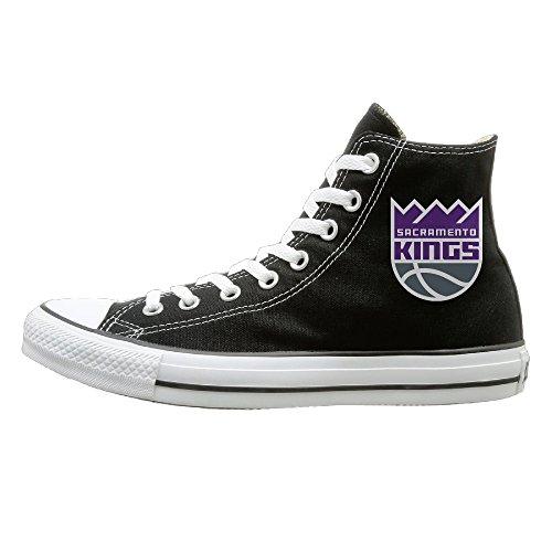 Bibabu Sacramento Logo Kings Casual Unisex Black High-tops Canvas Shoes