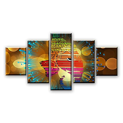 Home Decor Canvas HD Prints Pictures Frame 5 Pieces Ganesha Paintings Abstract Elephant God Poster Modular Living Room Wall Art
