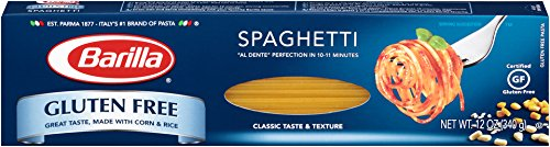 Barilla Gluten Free Pasta, Spaghetti, 12 oz (Free Gluten Spaghetti Sauce And)