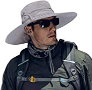 Cooltto Sun Hats for Men with UPF 50+ UV Protection Wide Brim Waterproof Breathable