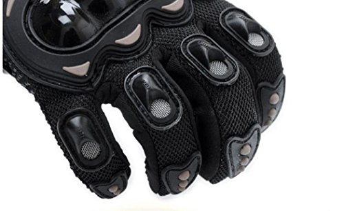 Wonzone Motorbike Protective Carbon Fiber Powersports Off-Road Racing Cycling Motorcycle Full Finger Motocross Motor Gloves (Red, X-Large) by Wonzone2161 (Image #5)