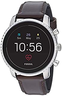 Fossil Men's Gen 4 Explorist HR Heart Rate Stainless Steel and Leather Touchscreen Smartwatch, Color: Silver, Brown (Model: FTW4015) (B07G9HDQVL) | Amazon price tracker / tracking, Amazon price history charts, Amazon price watches, Amazon price drop alerts