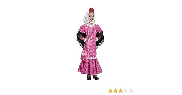 Disfraz de Madrileña Chulapa Rosa (5-6 años): Amazon.es: Juguetes ...