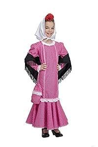Disfraz de Madrileña Chulapa Rosa (7-9 años)