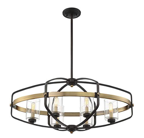 Savoy House 1-8042-6-79 Kirkland 6-Light Trestle in English Bronze and Warm Brass (Kirklands Lamps)