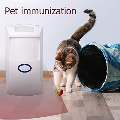(Blue-Ocean-11 - Wireless Motion Detector for Pet 433.92MHz 3V Indoor House Wireless Pet Immune PIR Motion Detector for Home)