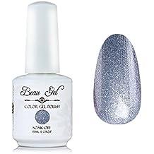 Silver gel nail polish, Beau Gel 15ml LED UV Soft glitter Nail Art Manicure (231)