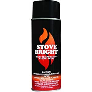 Stove Bright 6309 High Temperature Stove Paint 12 Pack Metallic Black Spray Paints