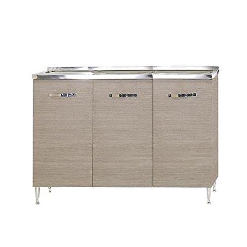 Sottolavello per cucina larice grigio Cm 120x50xH 85 con 3 ante WEBMARKETPOINT