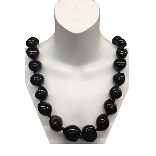 Buy kukui nut necklace black