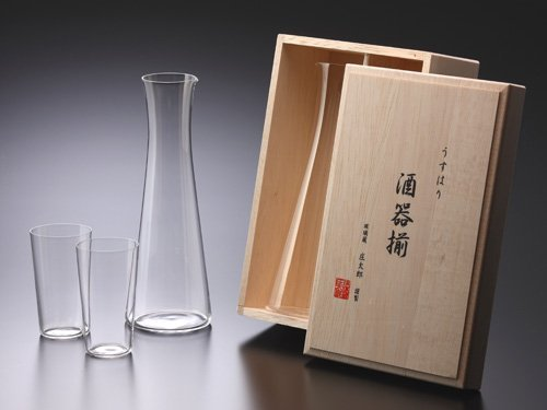 Usuhari Glass Sake assortment by MatsuIsao glass by MatsuIsao glass