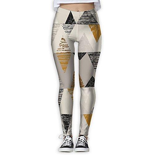 64f5605ee7 XDDFRTFF Women's Full-Length Yoga Pants 3D Printed Triangles Pattern Workout  Leggings
