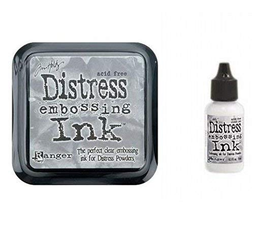 - Tim Holtz Ranger Distress Embossing Ink Stamp Pad & Re-Inker Refill Clear Ink