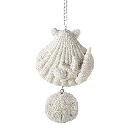 Sandy Shells Sand Dollar Resin Stone Christmas Tree Ornament Home Garden Decor Seasonal Holiday