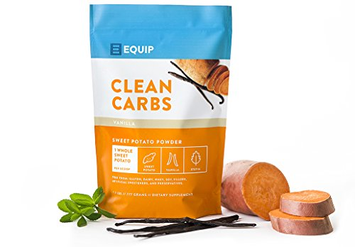 Clean Carbs Organic Sweet Potato Powder, Paleo Approved, One Full Sweet Potato Per Scoop, All-Natural, No Artificial Ingredients, Gut Fiber and Low GI Carbohydrate Supplement (1.7lbs)
