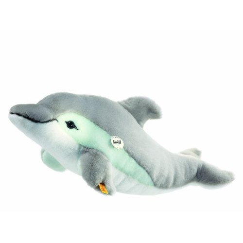 Steiff Cappy Dolphin Toy, Grey/White ()