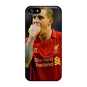 High Grade Rewens Flexible Tpu Case For Iphone 5/5s - The Player Of Liverpool Daniel Agger Is Biting His Fist