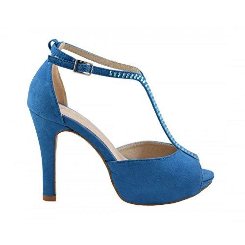 Benavente - Sandalia fiesta tacón alto azul - Benavente Azul