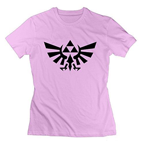 SAXON Women's The Legend Of Zelda Svg Unique Tshirts Pink Size S