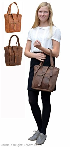 Borsetta Gusti Leder studio ''Rachel'' da donna per acquisti città tempo libero passeggio marrone cognac 2M17-26-5