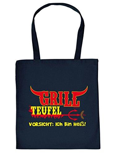 GRILL TEUFEL :Tote Bag Henkeltasche Beutel mit Aufdruck. Tragetasche, Must-have, Stofftasche,Grillen,Kochen
