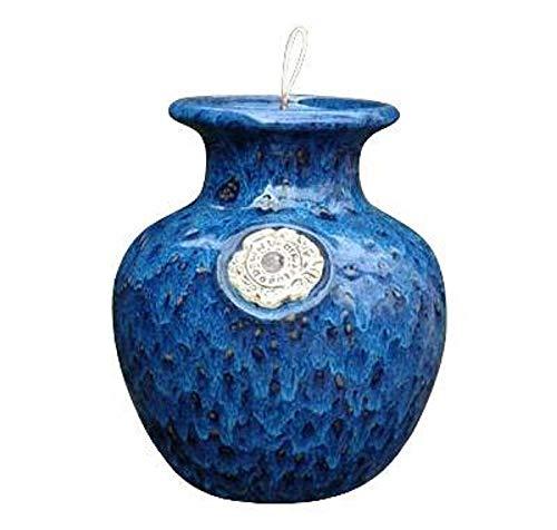 - Large Sapphire Sea Foam Gloss Glazed Down Under Pot - Upside Down Pot