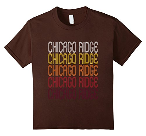Kids Chicago Ridge, IL | Vintage Style Illinois T-shirt 4 - Chicago Ridge