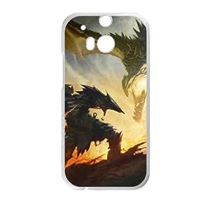 F2R15 The Elder Scrolls Skyrim v W1S2ME funda HTC uno M8 funda caja del teléfono celular cubren WS2FXL2WW blanco
