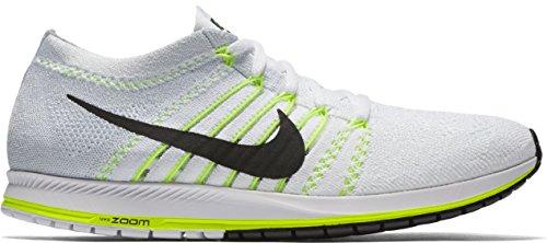 Nike Nike Flyknit Streak–Bianco/Nero/Volt, multicolore, 9.5