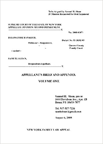 New York Family Law, Queens Family Court: Rankoth vs  Sloan