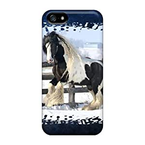 Iphone 5/5s QYA7044nTcA Spotted Gypsy Vanner Cases Covers. Fits Iphone 5/5s