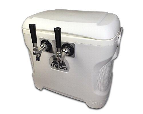Coldbreak Brewing Equipment CBJB30QT2T Jockey Box, 2 Tap, Marine Pass Through, 30 quart Cooler, 50-foot Coils, 0.25'' ID, Sizenameinternal'' OD, Stainless Steel by Coldbreak Brewing Equipment (Image #4)