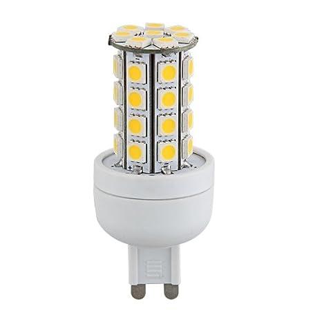 G9 7W 36 LED 3528 SMD Lámpara Bombilla Foco 3000K Luz Blanco Cálido AC 220V: Amazon.es: Iluminación