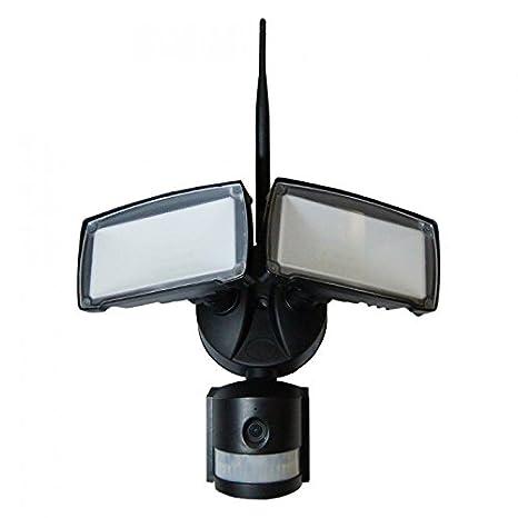 LED Foco Cámara – 18 W, WiFi, detector de movimiento, color blanco