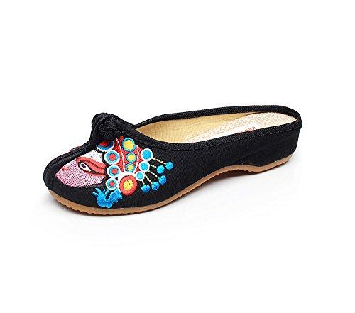 Zapatillas Estar Negro Para Casa Mujer Por Lazutom De Lona qCSdfv