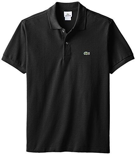 Lacoste+Men%27s+Short+Sleeve+Pique+L.12.12+Classic+Fit+Polo+Shirt%2C+Black%2C+6