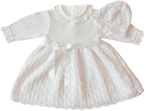 deine-Brautmode Doopjurk gebreide jurk feestjurk meisjes babyjurk baby doop gebreide jurk